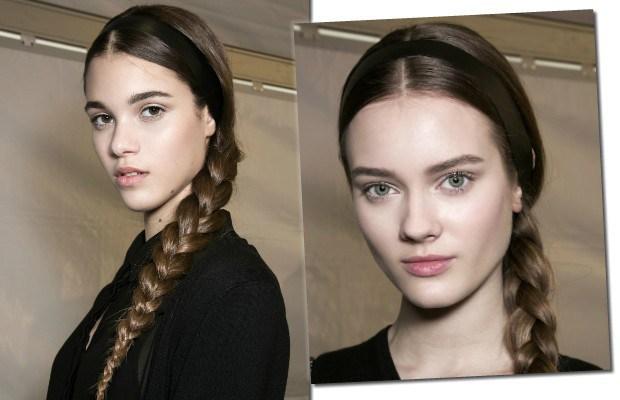 A dica para finalizar este tipo de penteado é usar um pincel com spray fixador para retirar o frizz (Foto: Imaxtree)