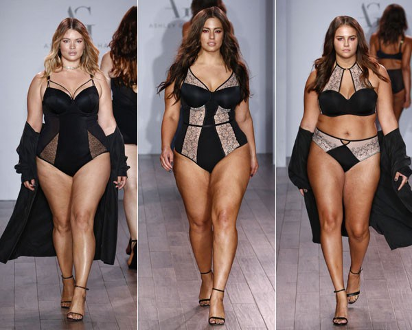 Modelos no desfile da Ashley Graham (Foto: Getty Images)