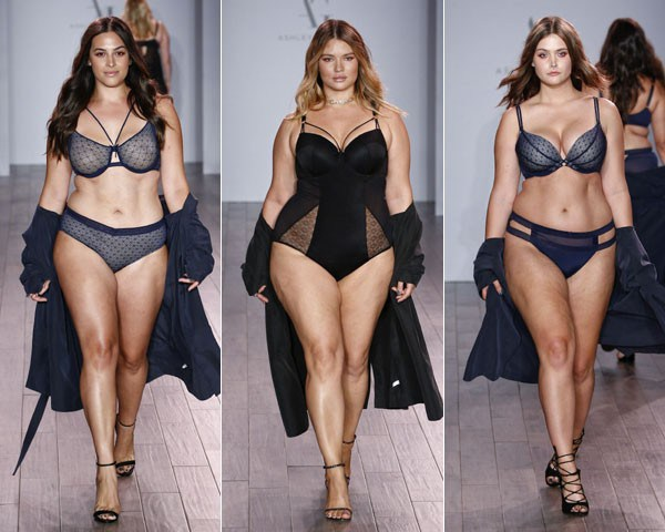 Modelos plus size no desfile da NYFW (Foto: Getty Images)