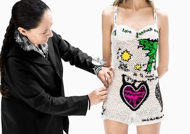 Look de crochê da Dior (Foto: Divulgação)